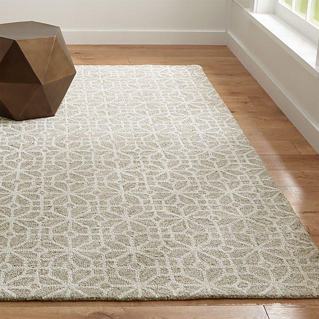 rhea wool-blend rug | crate and barrel