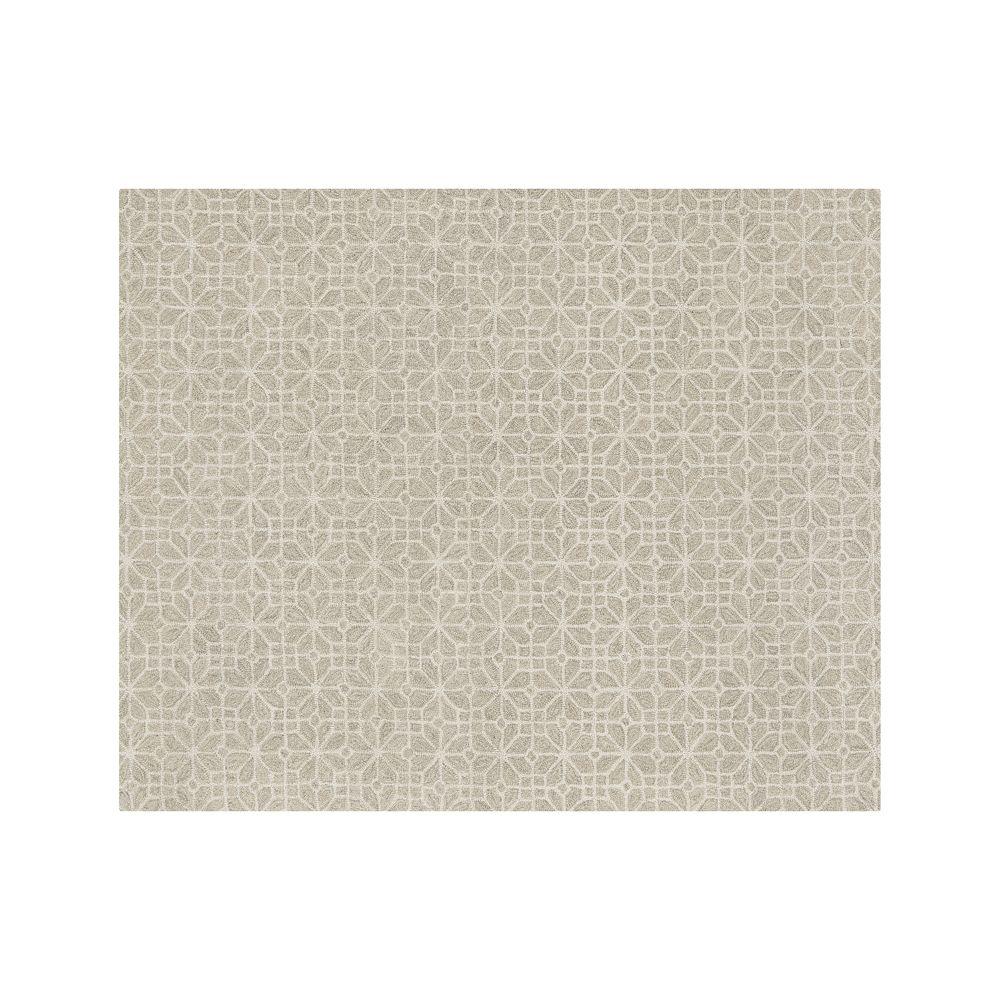 Rhea Dove Wool-Blend 8'x10' Rug - Crate and Barrel