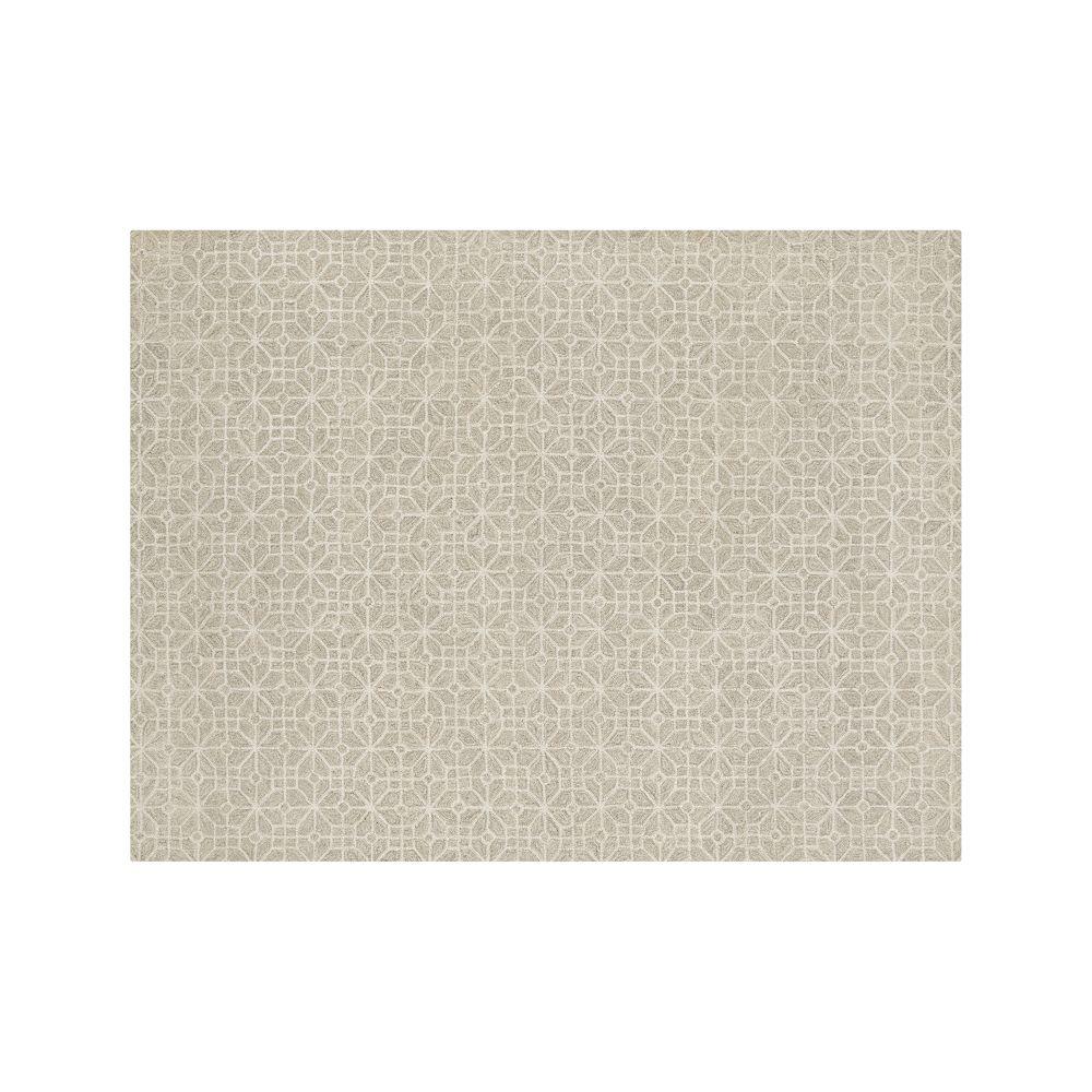 Rhea Dove Wool-Blend 9'x12' Rug - Crate and Barrel