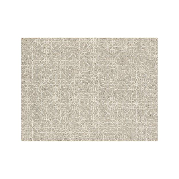 Rhea Dove Lattice Pattern Rug 9'x12' - Image 1 of 10