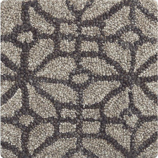 "Rhea Graphite Grey Wool-Blend 12"" sq. Rug Swatch"
