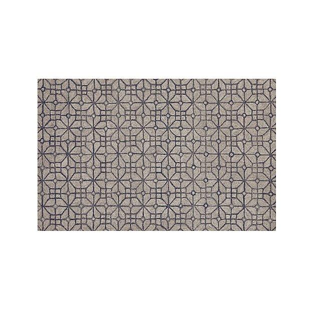 Rhea Graphite Grey Wool-Blend 5'x8' Rug