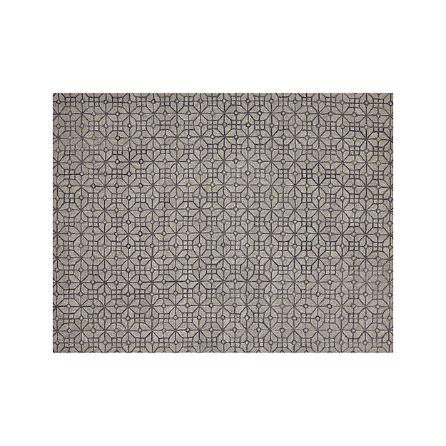 Rhea Graphite Grey Wool-Blend 9'x12' Rug
