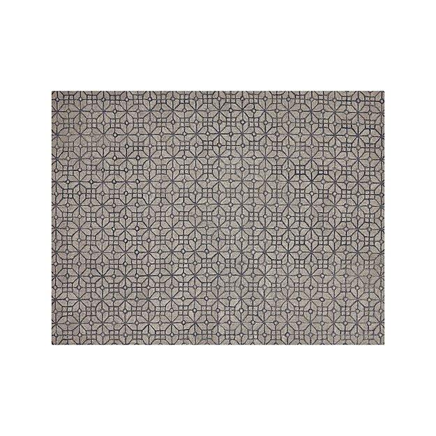 Rhea Graphite Lattice Pattern Rug 9'x12' - Image 1 of 3