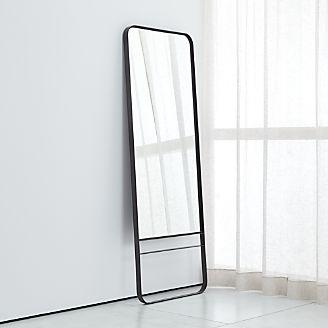 Iron floor mirror