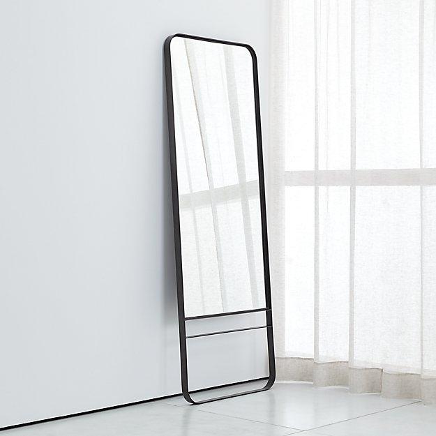 Luna Iron Floor Mirror + Reviews | Crate and Barrel
