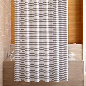 Rhesi Grey Shower Curtain