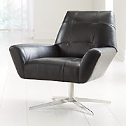 Pleasing Leather Sofas Chairs Crate And Barrel Customarchery Wood Chair Design Ideas Customarcherynet
