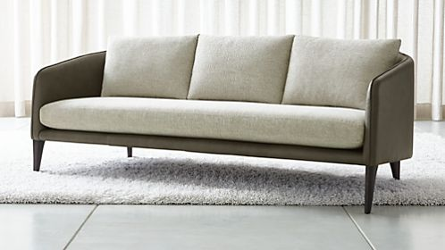 Rhys Leather Bench Seat Sofa