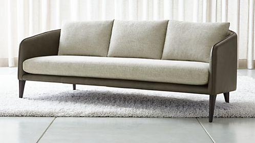 Beau Rhys Leather Bench Seat Sofa