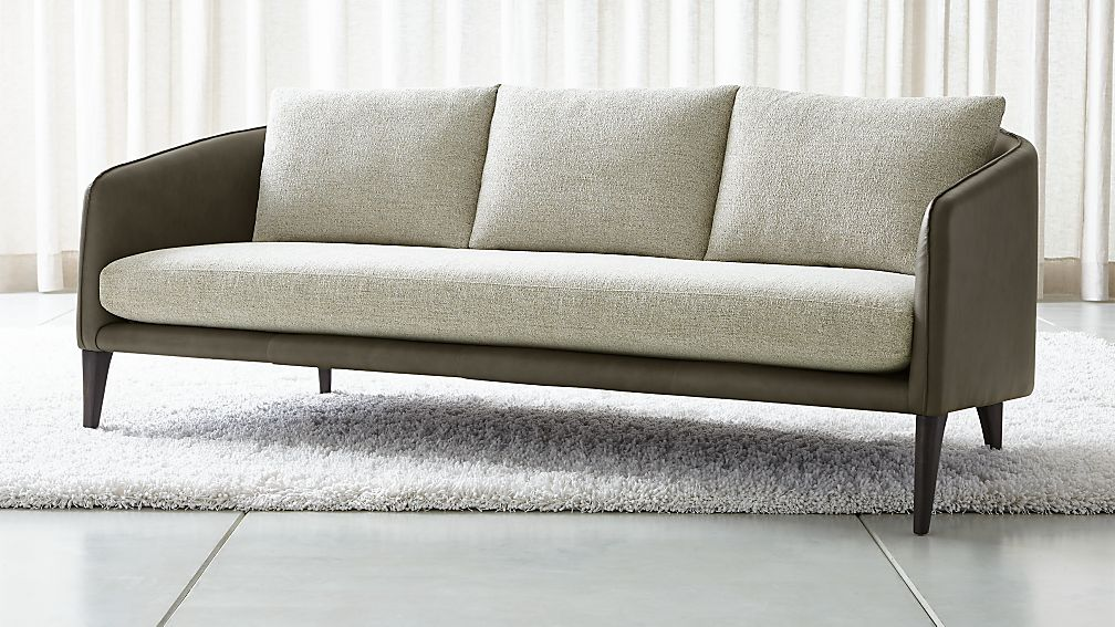 Rhys Leather Bench Seat Sofa - Image 1 of 11