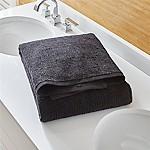 Ribbed Black Bath Sheet