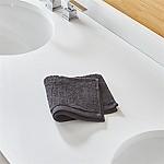 Ribbed Black Washcloth