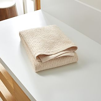Ribbed Cream Bath Towel