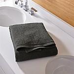 Ribbed Graphite Bath Towel