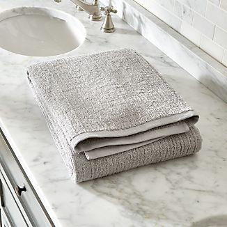 Ribbed Grey Bath Sheet
