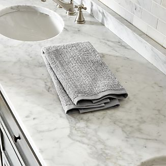 ribbed grey hand towel - Bathroom Hand Towels