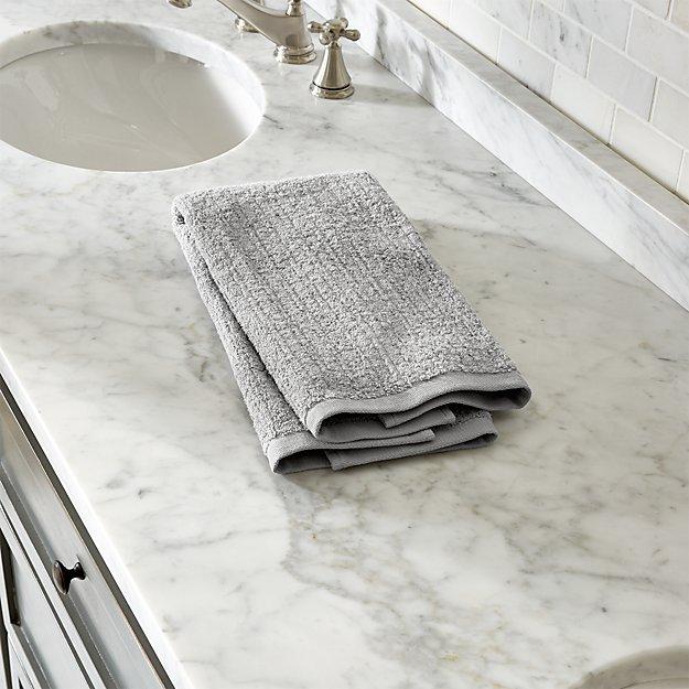 Ribbed Grey Hand Towel - Image 1 of 12