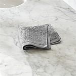 Ribbed Grey Washcloth