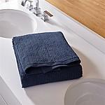 Ribbed Ink Blue Bath Towel
