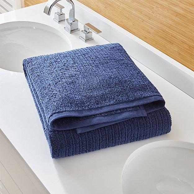 Ribbed Midnight Bath Sheet