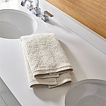 Ribbed Oyster Hand Towel