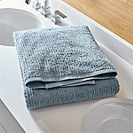 Ribbed Powder Blue Bath Sheet
