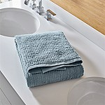 Ribbed Powder Blue Bath Towel