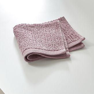 Ribbed Purple Washcloth