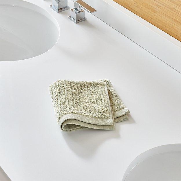 Ribbed Sage Green Washcloth