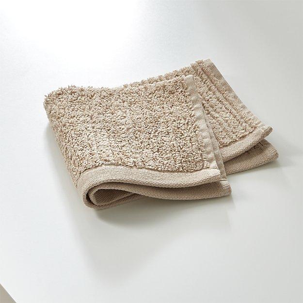 Ribbed Sand Washcloth