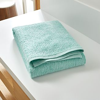Ribbed Seafoam Bath Sheet