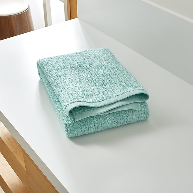 Ribbed Seafoam Bath Towel