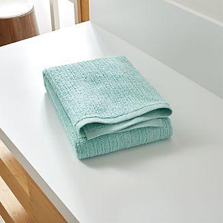 Ribbed Seafoam Bath Towel