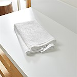 Ribbed White Hand Towel