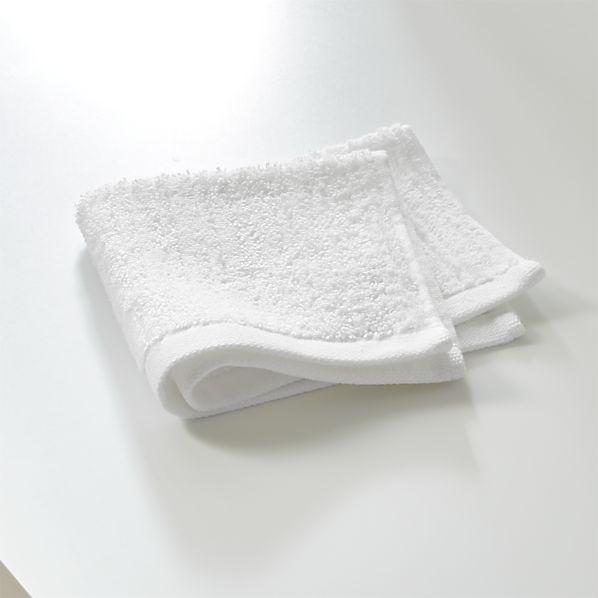 Ribbed White Washcloth