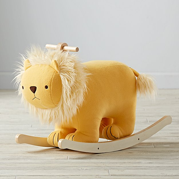 Plush Lion Rocking Horse Reviews Crate And Barrel