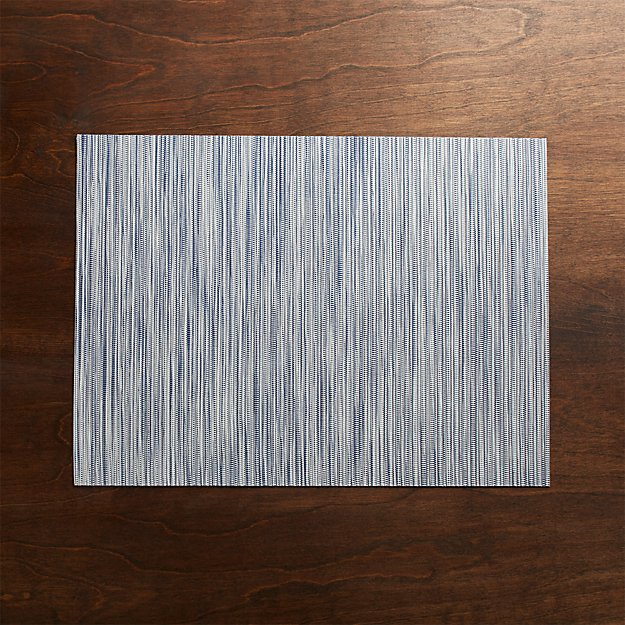 Chilewich ® Ridge Blue Placemat - Image 1 of 4