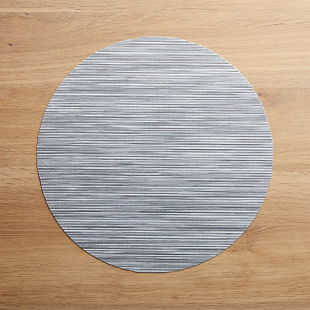 Chilewich ® Ridge Silver Round Placemat - Image 1 of 2