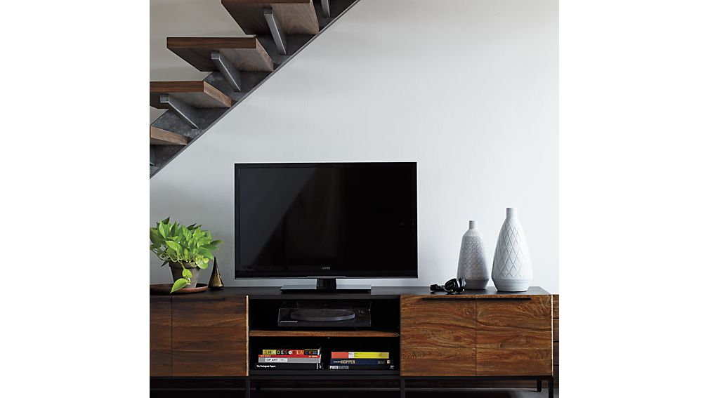 """Rigby 80.5"""" Large Media Console with Base"""