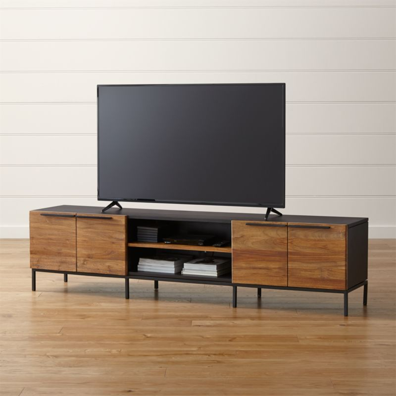Rigby Natural 80 5 Quot Large Media Console With Base