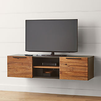 "Rigby Natural 55"" Small Floating Media Console"