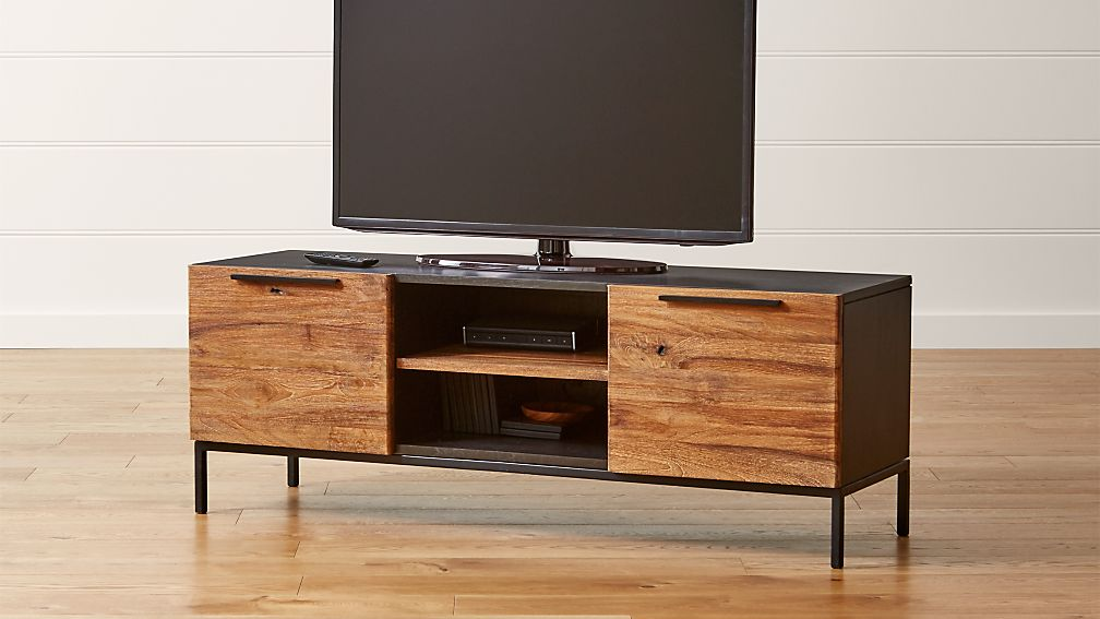 "Rigby Natural 55"" Small Media Console with Base - Image 1 of 6"