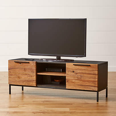 Rigby Natural 55 Small Media Console With Base Reviews Crate And Barrel Canada