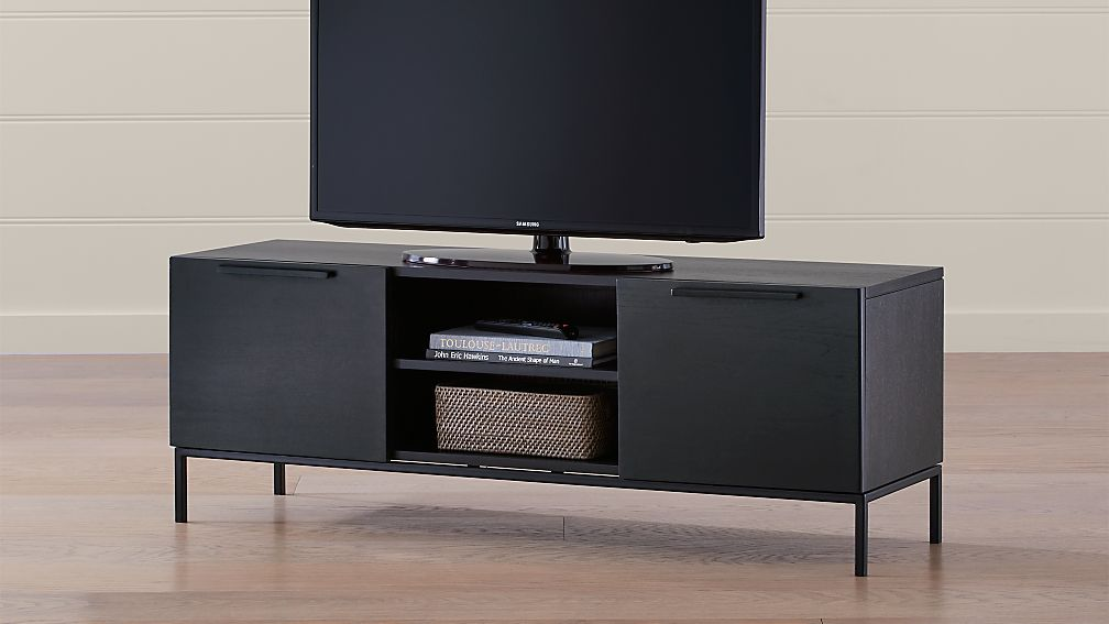 """Rigby 55"""" Small Wenge Media Console with Base - Image 1 of 6"""