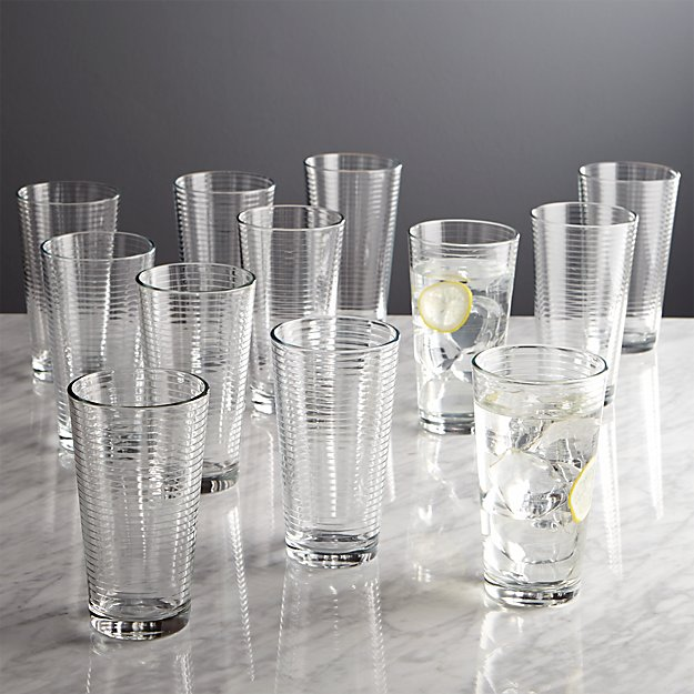 Rings Cooler Glasses, Set of 12