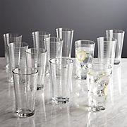Rings Cooler Glasses, Set of 12
