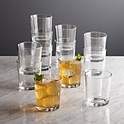 Rings Double Old-Fashioned Glasses, Set of 12