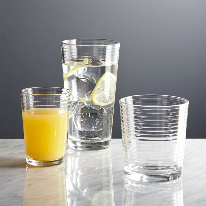 Standard Shipping Tracking >> Rings Glass Cups | Crate and Barrel