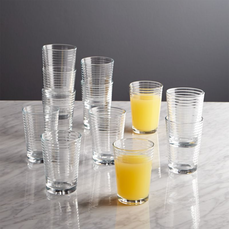 Rings Juice Glasses Set Of 12 Reviews Crate And Barrel
